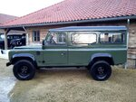 1992 LR LHD Defender 3 dr 200 Tdi A Eastor Green left side.jpg