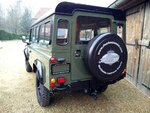 1992 LR LHD Defender 3 dr 200 Tdi A Eastor Green rear.jpg