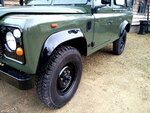 1992 LR LHD Defender 3 dr 200 Tdi A Eastor Green body left front.jpg