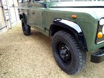 1992 LR LHD Defender 3 dr 200 Tdi A Eastor Green body right front.jpg