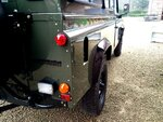 1992 LR LHD Defender 3 dr 200 Tdi A Eastor Green body right rear.jpg
